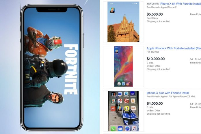 Apple iPhones with Fortnite