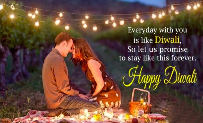 Romantic Diwali Wishes