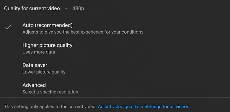 YouTube Is Testing Simplified Video Quality Controls & Settings