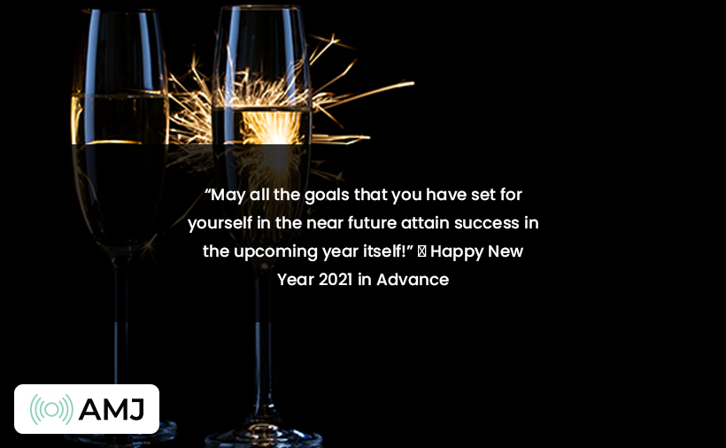 Advance Happy New Year 2021 Messages