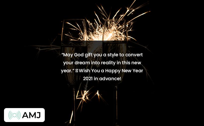 Advance Happy New Year 2021 Status