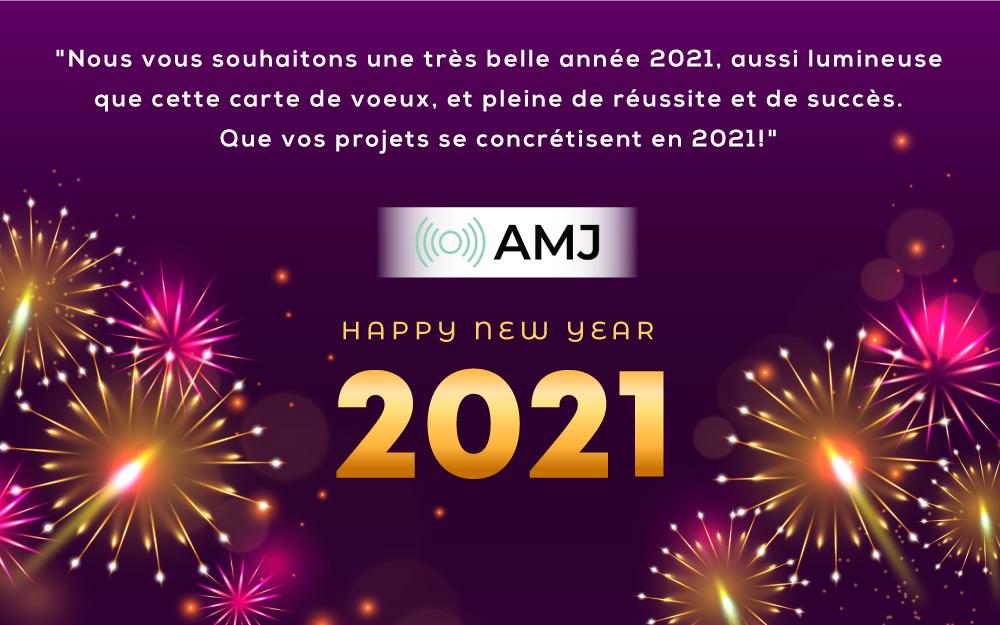 Bonne année 2021 salutations