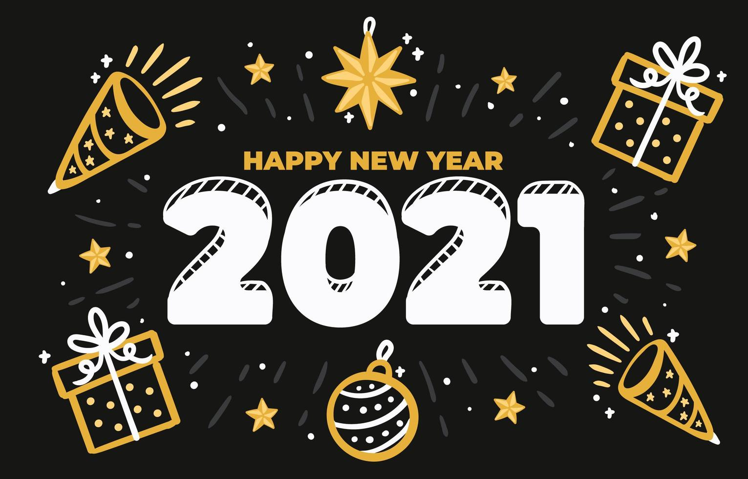 Free Printable Happy New Year 2021 Clipart