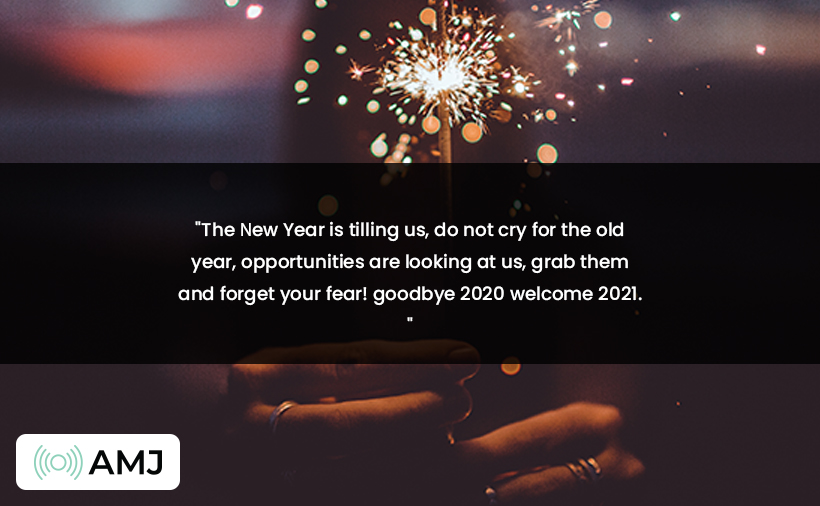 Goodbye 2020 Welcome 2021 Wishes
