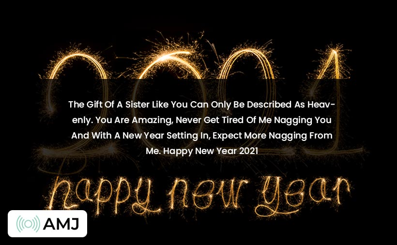 Happy New Year 2021 Wishes For Sister