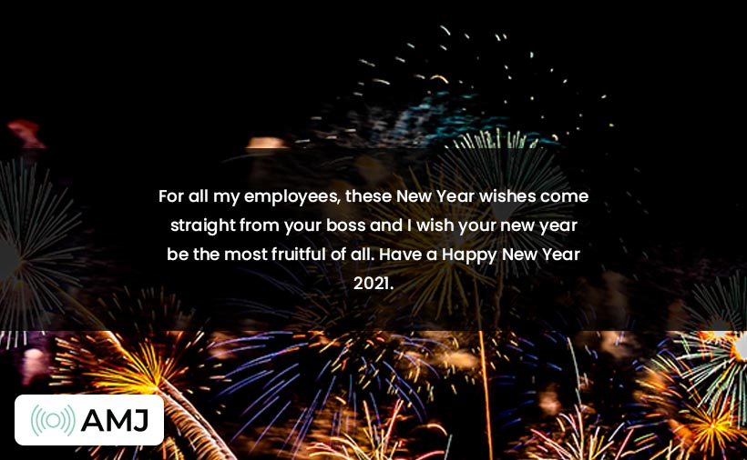 Happy New Year Wishes for Employee & Boss