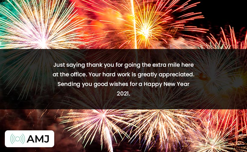 Happy New Year Wishes for Employee