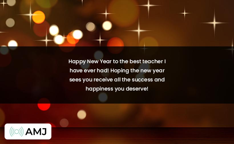 Happy New Year Wishes for Students & Teachers
