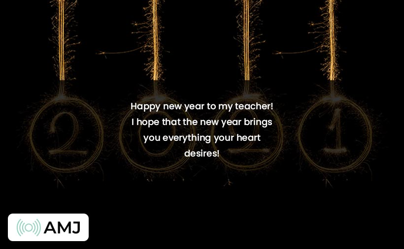 Happy New Year Wishes for Teachers
